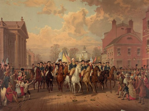 George Washington enters New York