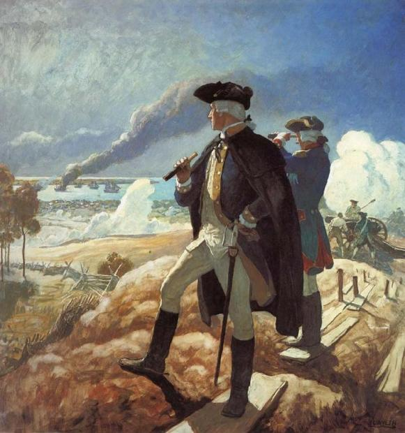 George Washington Yorktown by NC Wyeth