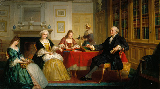 """George Washington and Family"" by Thomas Prichard Rossiter"